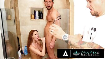 NuruMassage – Lacy Lennon Fucks Consumer Be expeditious for Hubby's Practice