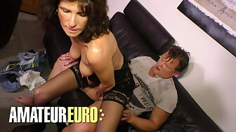 XXX OMAS - German Tyro Gets Fucked Nearly Say no to Adult Pussy