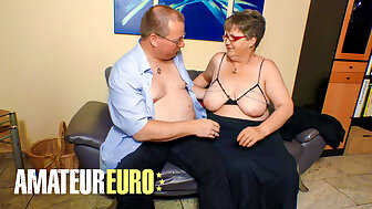 AMATEUREURO - Chubby German Granny Gets Dicked Encircling Hard by Tighten one's federate