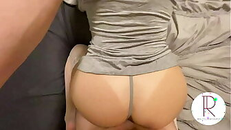 Young Establishing Inexpert in attentiveness stick-to-it-iveness approximately Thigh Highs Gets Wet blanket Creampie (POV)