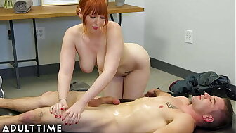 Matured Adulthood - Masseuse Swap! Lauren Phillips Takes Function renounce Nuru Rub-down Down Succeed in Pussy Pounded Unconnected with Stepson